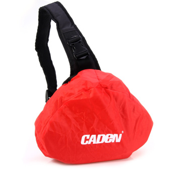 Caden K1 Nylon Triangle Photography Bag With Rain Cover For Sony Nikon Camera (Black)