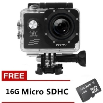 Cai-New Ultra Hd 4K Wifi 16Mp Action Camera Sport Dvr (Black) WithFree 16Gb Sd Card with Free B-5 Mini Portable Bluetooth Speaker(Silver)