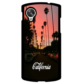 California Funny Pattern Phone Case for LG Nexus 5 (Black)