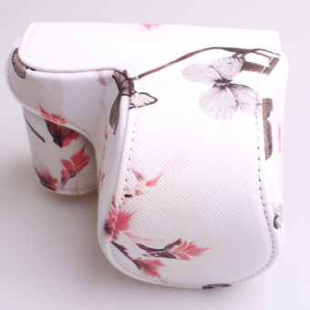 Camera Case Bag Cover with Strap for Sony A5100/A5000/NEX-3N(White) - 2