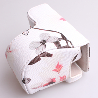 Camera Case Bag Cover with Strap for Sony A5100/A5000/NEX-3N(White) - 4