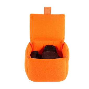 Camera Insert Bag Inner Case Bag Shockproof Padded Partition Protective Bag(orange) - intl