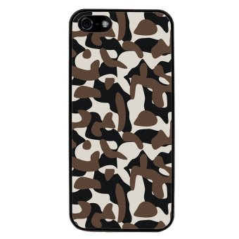 Camouflage Pattern Phone Case for iPhone 5C (Black)