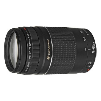 Canon EF 75-300mm f/4-5.6 f4-5.6 III Lens (Black)
