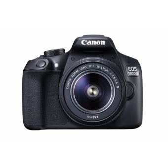 Canon EOS 1300D KIT 18.0MP DSLR Camera Black & EF-S 18-55mm DCIII - intl Price Philippines