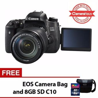 Canon EOS 760D 24.2MP Digital SLR Camera with 18-135mm Lens Kit with FREE EOS Camera Bag and 8GB SD Card
