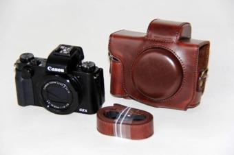 Canon G5 suitable super Leather cover original camera bag