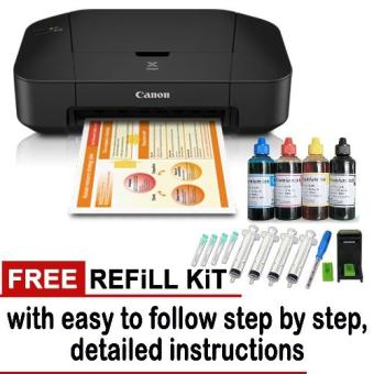 Canon Pixma iP2870S Color inkjet Printer with Free 1 Set Refill Kit