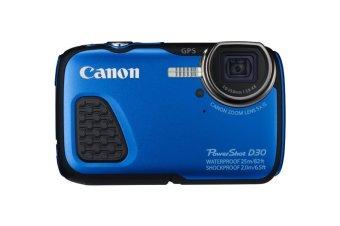 Canon PowerShot D30 12MP 5x Optical Zoom Underwater Camera (Blue)