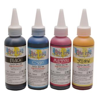 Canon Premium Elite Japan Dye Inks 100ml (Cyan, Magenta, Yellow, Black)