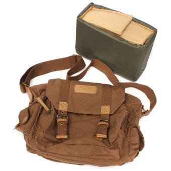 Canvas Vintage Shoulder Messenger Digtal Camera Bag for Canon NikonSony DSLR