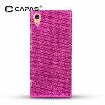 CAPAS Hard PC Bling Bling Case 3D Carbon Fiber Cover for Sony Xperia XA1 Back Cover - intl