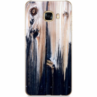 CAPAS Wood Grain Cover for Samsung Galaxy C9 Pro Case WoodenPattern Hard PC Back Cover -