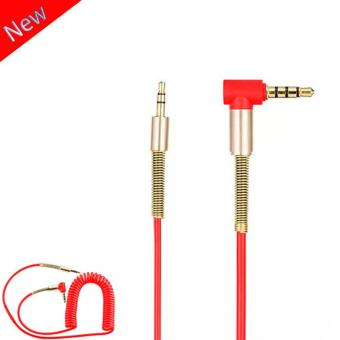 Car AUX in 3.5mm to 3.5mm Stereo Audio Cable Connection Sound CarMusic mp3 (Red)