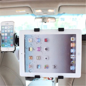 Car Chair Back Phone iPad Tablet Stand Two-in-one Bracket Holder -intl - 3