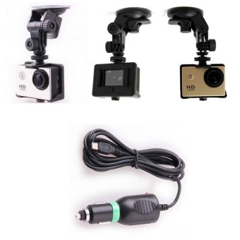 Car Charger Mount and Suction cup Bracket For SJ4000/SJ4000WiFi/SJ4000Plus/SJ5000/SJ5000WIFI/SJ5000Plus Action Camera (Black) - 5