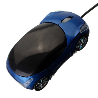 Car Shape Optical USB Wired Mouse for PC (Blue) - picture 2
