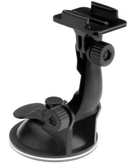 Car Suction Cup Mount Camera Holder for GoPro & SJCAM GP17 (Black)