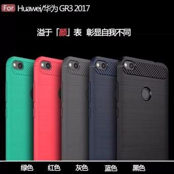 Carbon rugged amor case for Huawei Gr3 2017 (grey) - 2