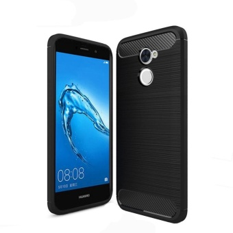 Carbon Rugged Armor Cover Case for Huawei Y7 Prime - intl
