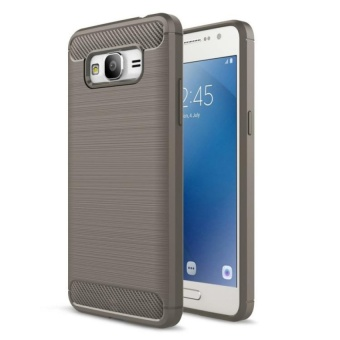 Carbon Rugged Armor Cover Case for Samsung Galaxy J2 Prime - (grey)