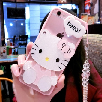 Cartoon cute mirror Case For Oppo F3 Plus(KT + crystal lanyard) - intl