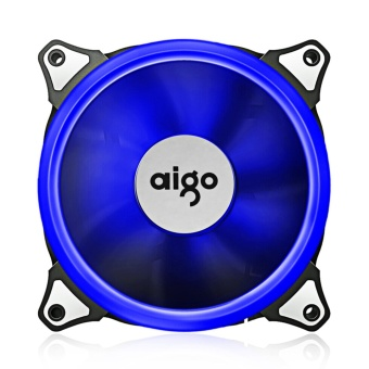 Case Fan, Aigo LED 120mm High Airflow Quiet Edition AdjustableColor LED Fan CPU Coolers & Radiators for Computer Cases (BLUE)- intl