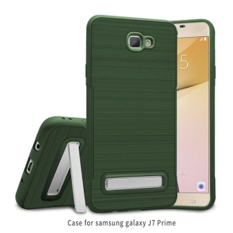 Case for Samsung Galaxy J7 Prime Dual Layer Hybrid TPU + PC Protective Cover (Army Green) - intl