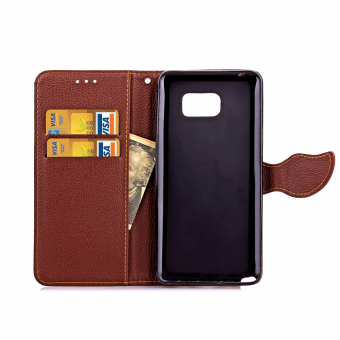Case for Samsung Galaxy Note 5 Leather Flip Stand Case Cover Wallet - Black - 4