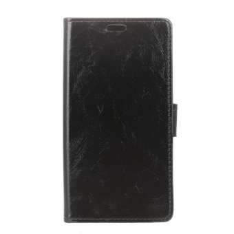 Case for Samsung Galaxy Note 8 Leather Wallet with Flip StandFunction Cover (Black) - intl