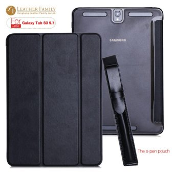 Case for samsung galaxy Tab S3 9.7 T820 T825 Smart Stand PU Leather Cover for galaxy Tab S3 Protective Skin cover with pen pouch - intl