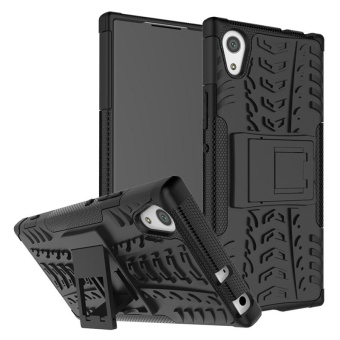 Case for Sony Xperia XA1 Hybrid Combo Shockproof Case Cover (Black) - intl