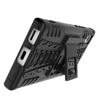 Case for Sony Xperia XA1 Hybrid Combo Shockproof Case Cover (Black) - intl - 5