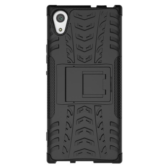 Case for Sony Xperia XA1 Hybrid Combo Shockproof Case Cover (Black) - intl - 3