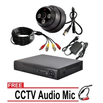 CCTV 720p AHD Dome Camera with 4 Channel DVR Bundle