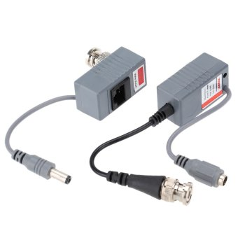 CCTV Camera Video Balun Transceiver BNC UTP RJ45 Video and Power over CAT5/5E/6 Cable (Intl)