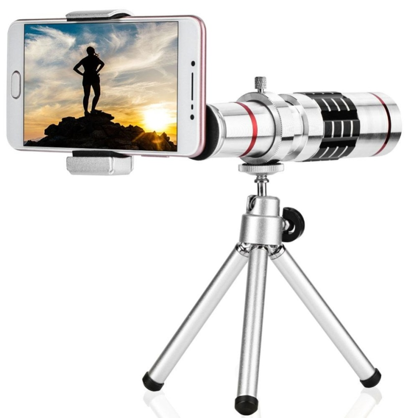 Cell Phone Camera Lens Kit Universal 18X Optical Zoom Telephoto Telescope Lens with Tripod - intl