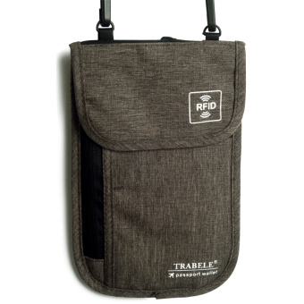 Cha Bei to RFID anti-magnetic multi-functional halter passport bag