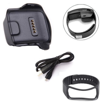 Charge Dock for Samsung Galaxy Gear Fit R350 Watch +Cable+WristStrap BK - intl Price Philippines