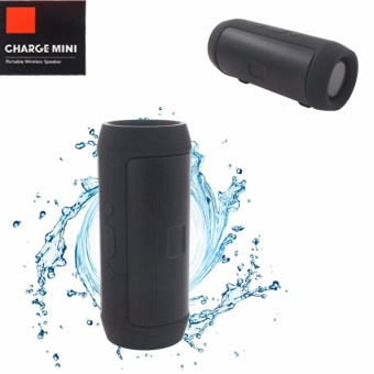 Charge Mini Splashproof Wireless Bluetooth Speaker At Same Time Power Bank (Black)