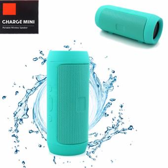 Charge Mini Splashproof Wireless Bluetooth Speaker At Same Time Power Bank (SeafoamGreen)