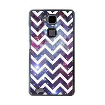 Chevron Anchor Boat Pattern Phone Case For Huawei Mate 7 (Black)