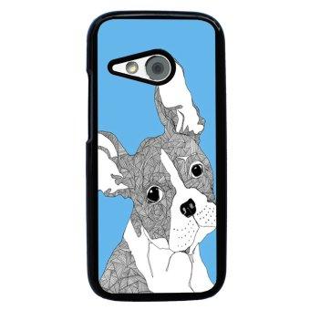 Chevron Grumpy Cat Pattern Phone Case for HTC One M8 Mini (Black)