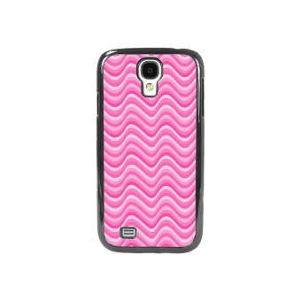 Chevron Pattern Phone Case for Samsung Galaxy S4 (Black/Pink)