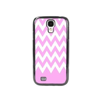 Chevron Pattern Phone Case for Samsung Galaxy S4 (Pink)