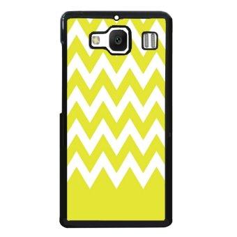 Chevron Pattern Phone Case for XiaoMi RedMi 2 (White/Yellow)