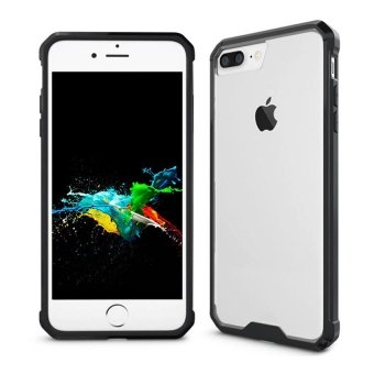 CHOETECH Acrylic & Soft TPU iPhone 7 Plus Case Clear Hard Back Cover (Black)