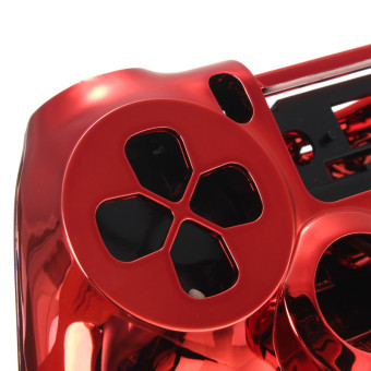 Chrome Skin Housing Shell Case for Sony PlayStation 4 PS4 Controller (Red) - picture 2