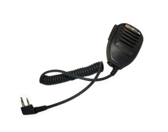 Cignus 2 Pins Portable Two Way Radio Speaker Mic (Black)