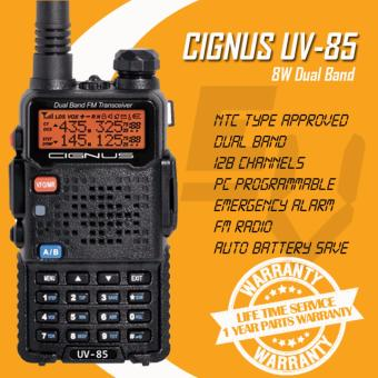 Cignus UV-85 Tri-Power (1/4/8w) 8 Watts Dual Band Analog Portable Two-Way Radio (Black)